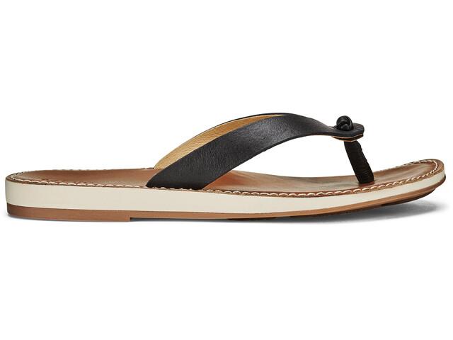 OluKai Nohie Sandals Dame black/tan